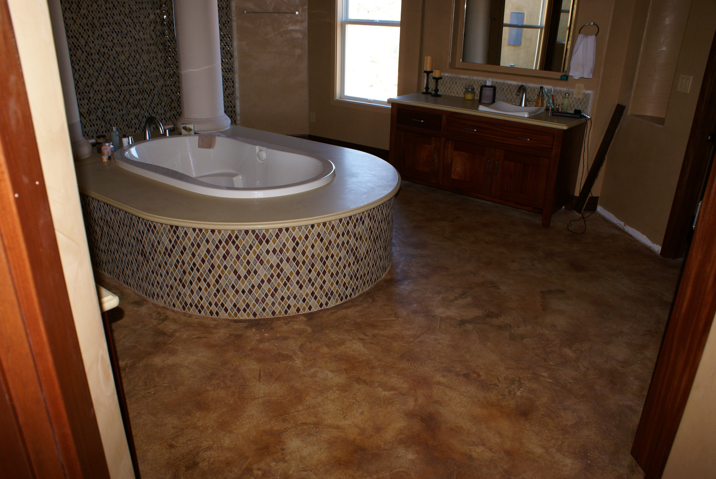 polished services floors and concrete artistic custom decorative